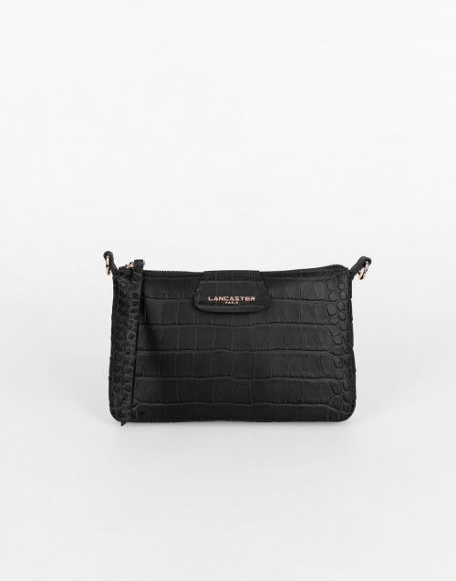 Black Exotic Croco Souple Clutch