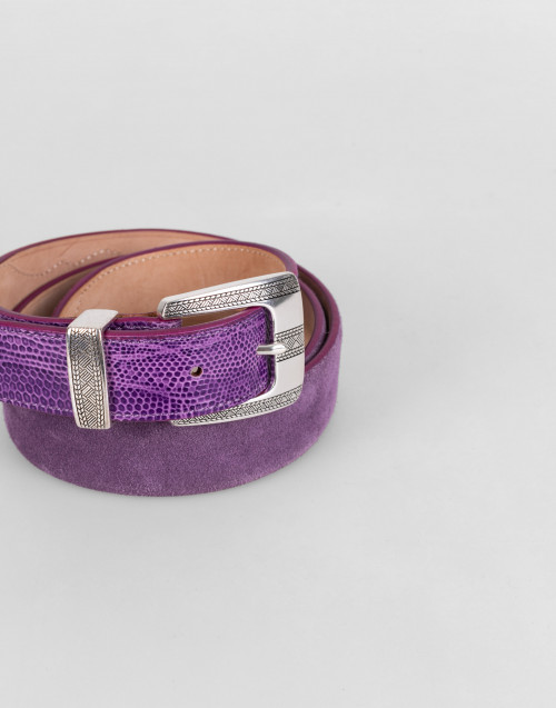 Purple Way Of Living Leather Belt