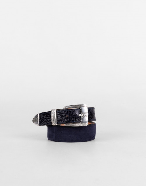 Blue Way Of Living Leather Belt