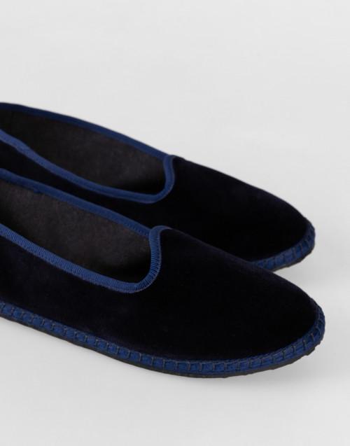 Friulane in velluto blu
