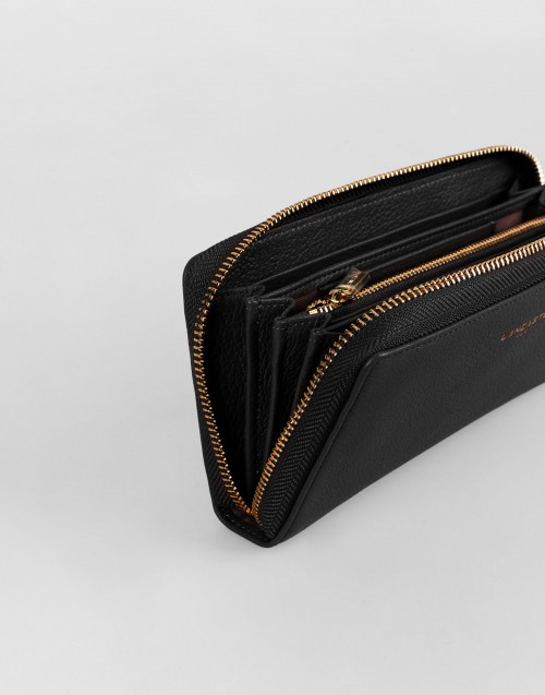 Black Leather Dune Continental Wallet