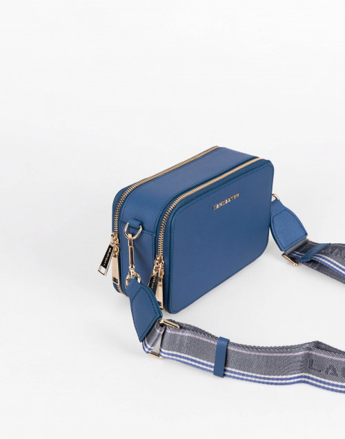 Blue Saffiano Signature Camera Bag
