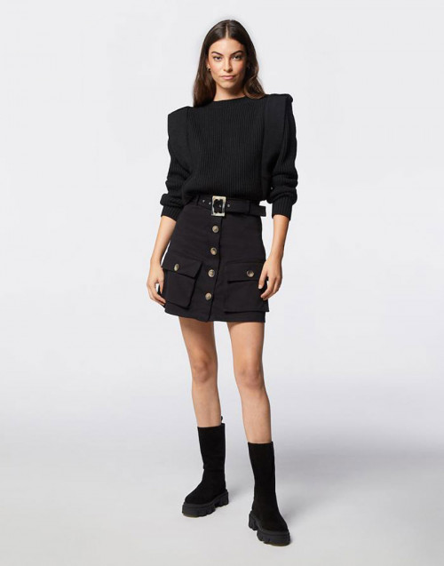 Black Pepper black mini skirt