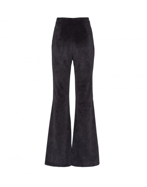 Black Chili Pepper trousers in velvet