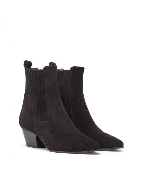Ankle Boot scamosciato nero