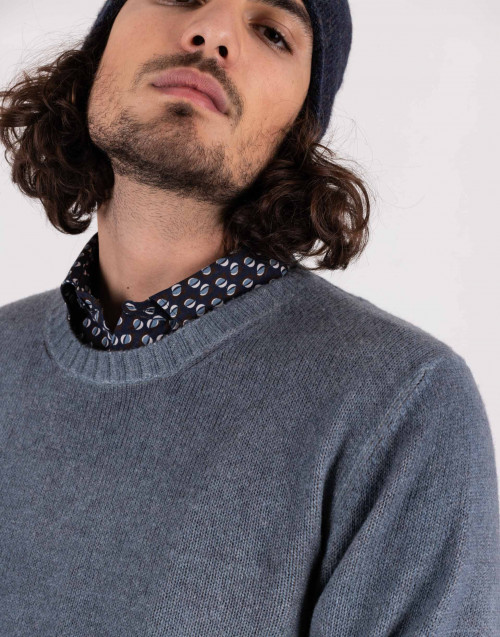 Avio-colored wool sweater