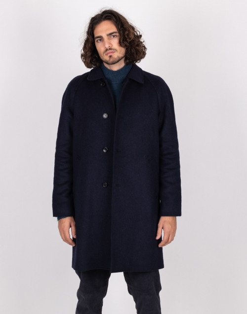 Midnight blue wool coat