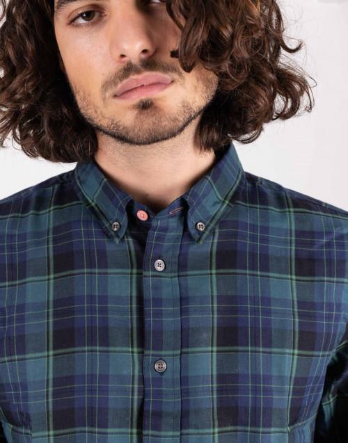 Camicia tartan verde
