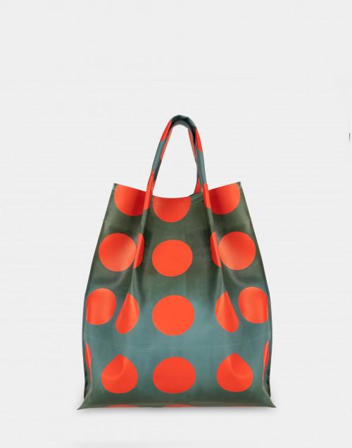 Multicolor rubber shopping bag