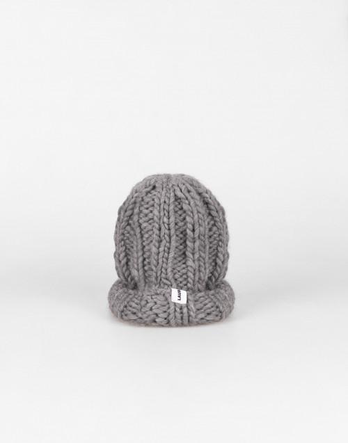 Cuffia Fonzie grigio in lana