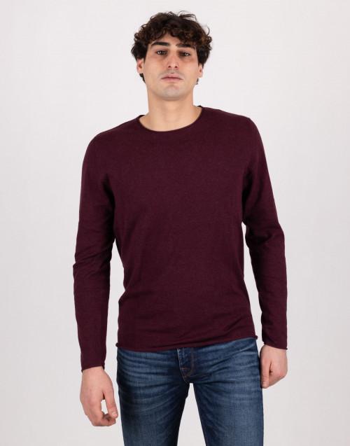 Burgundy silk and cotton sweater