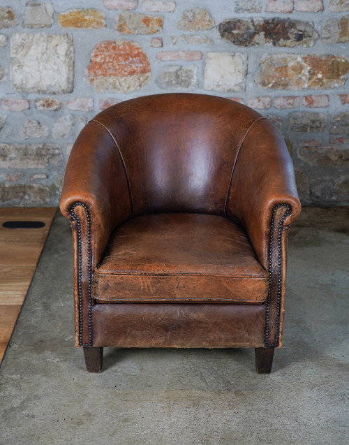 Rounded Victorian armchair