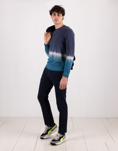 Tie dye wool sweater