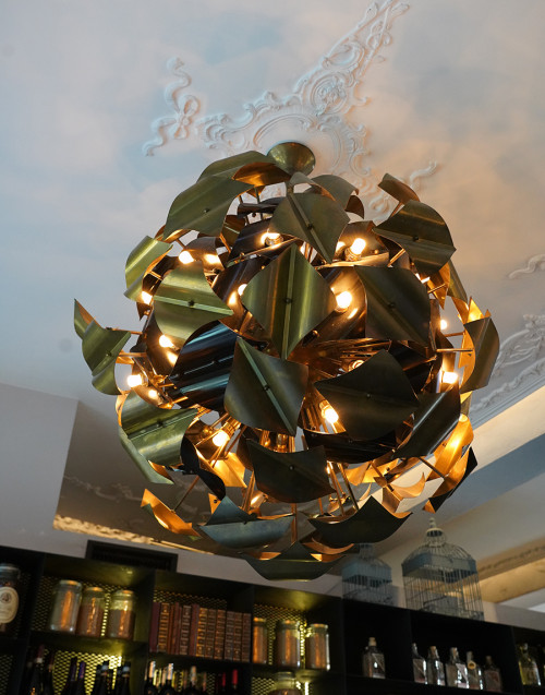 Handcrafted brass chandelier