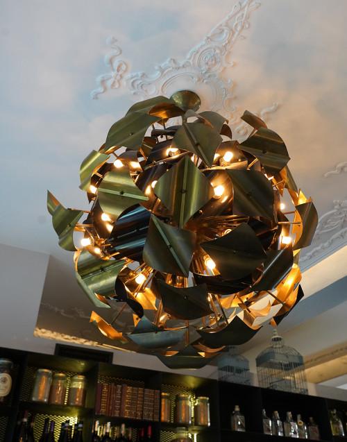 Lampadario artigianale in ottone