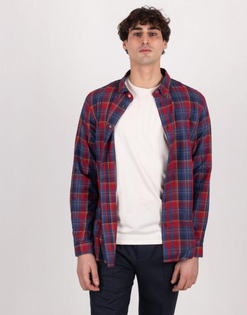 Camicia scozzese rossa