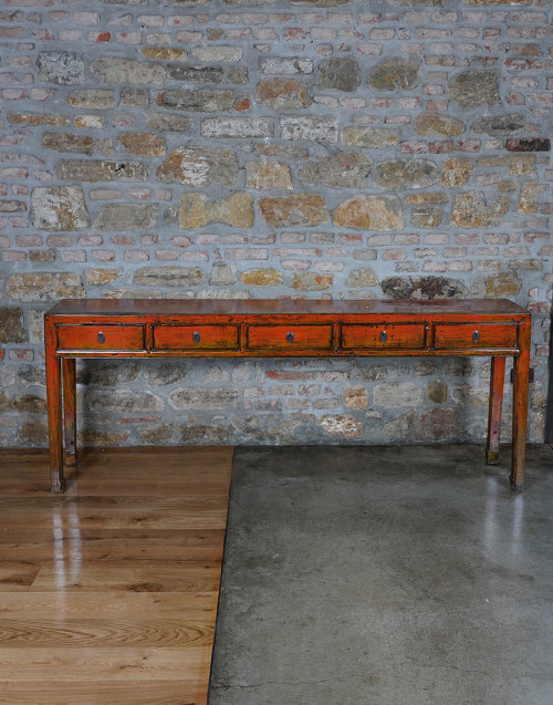 Vintage console in Chinese lacquer