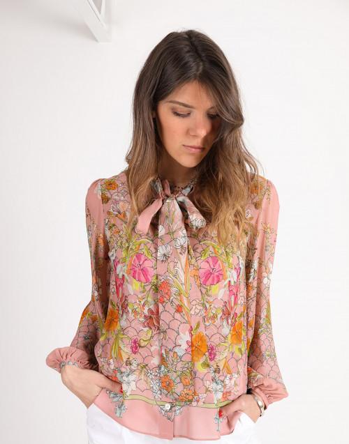 Camicia con stampa floreale
