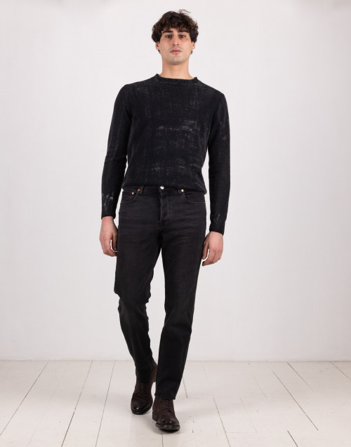 Pantaloni denim slim allen nero