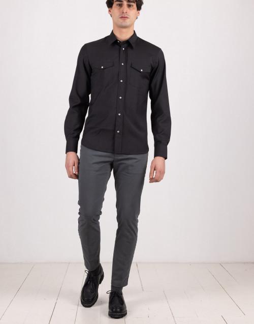 Pantalone grigio in cotone