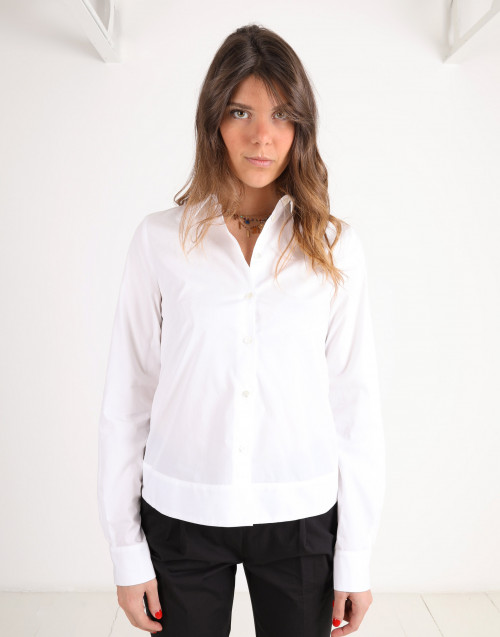 Cotton shirt w/ back lace