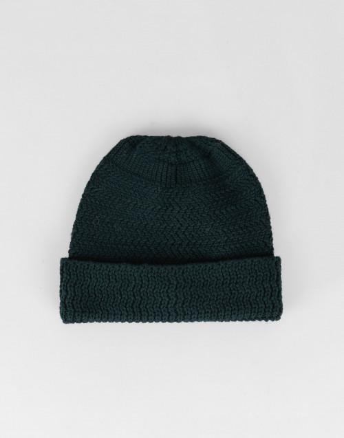 Cuffia lana merino verde