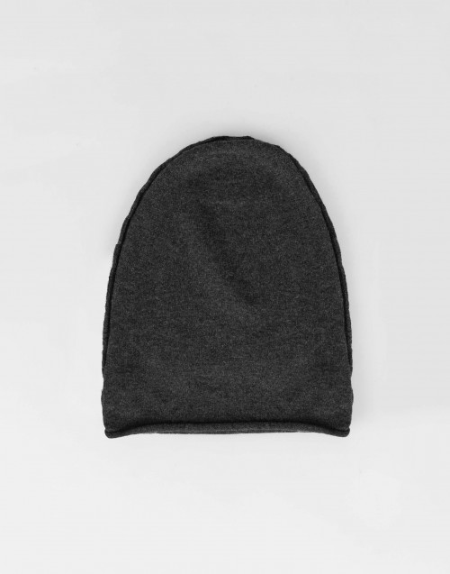 anthracite thin wool cap