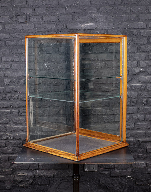 English mahogany showcase restored from 1900