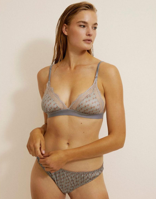 Bralette Love Lace Blu