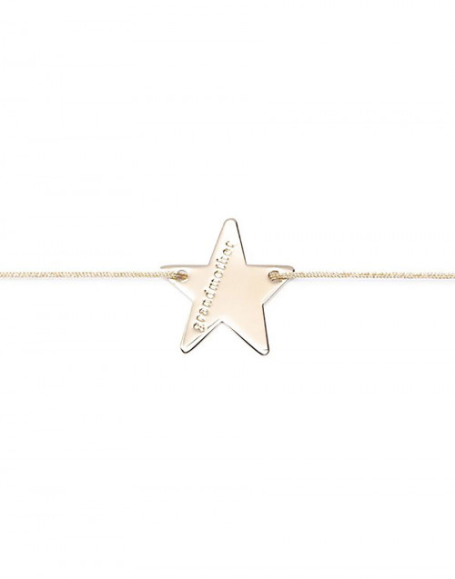 Gold-tone star lucky charm