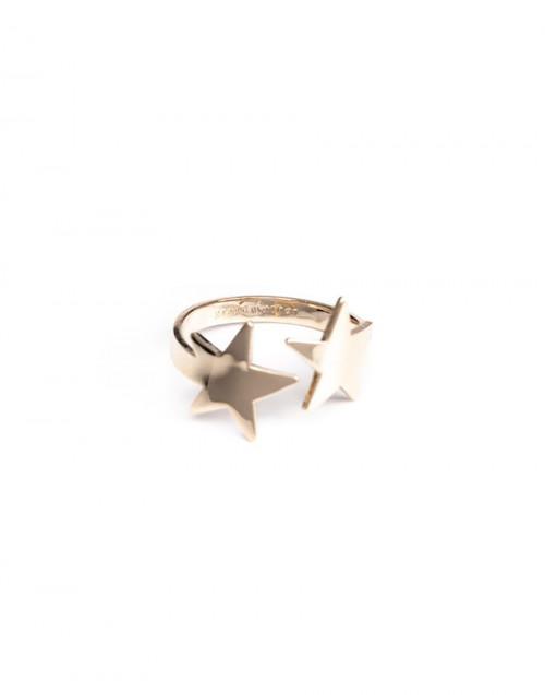 Anello stelle gemelle oro