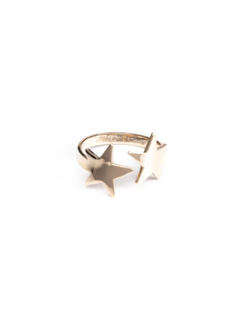 Twin stars gold ring