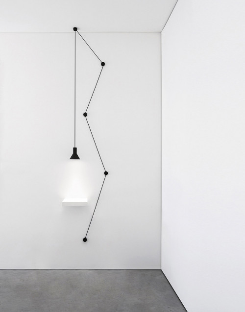 Black Neuro suspension lamp