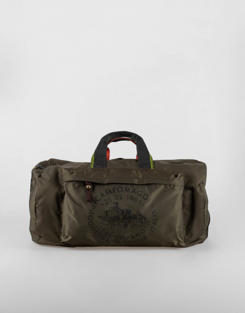 Military green duffle bag
