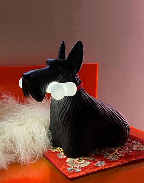 Black Scottie Lamp
