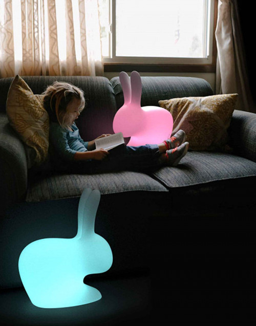 Rabbit small lamp with recheargeable LED