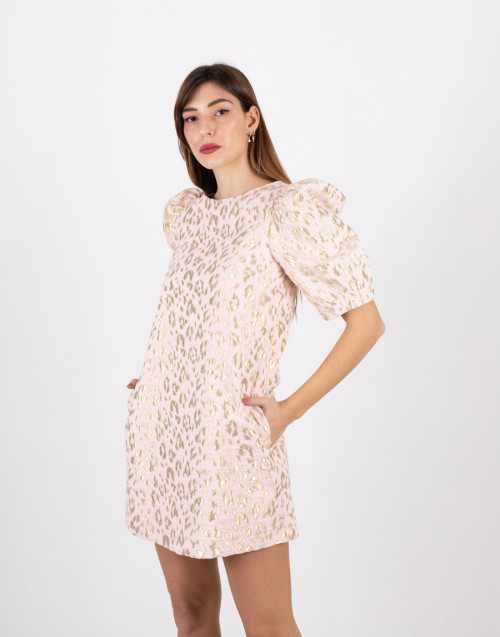 Pink-gold maculated short dress