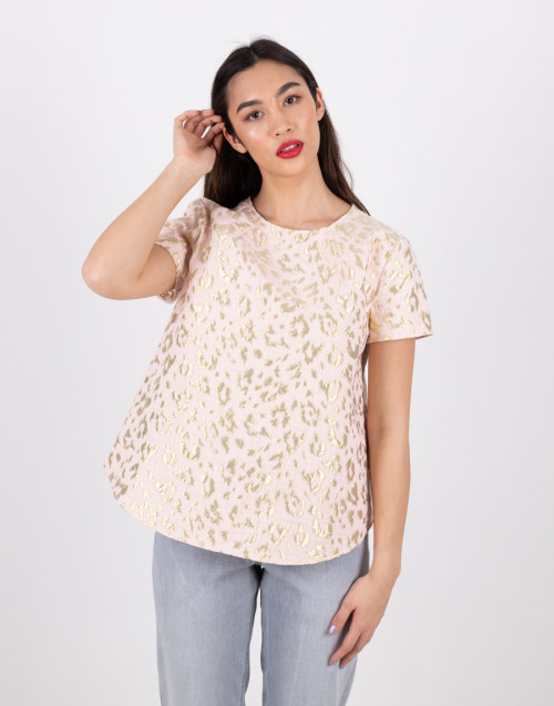 """Pink-gold maculated blouse """"Alizee"""""""