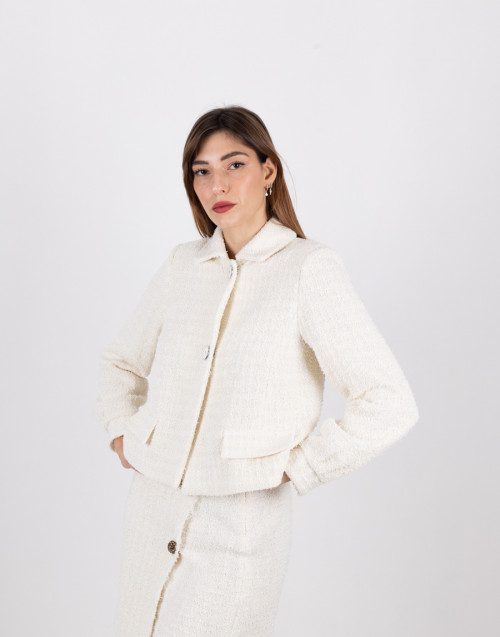 "White tweed jacket ""Faustine"""