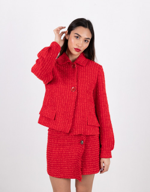 "Red tweed jacket ""Faustine"""