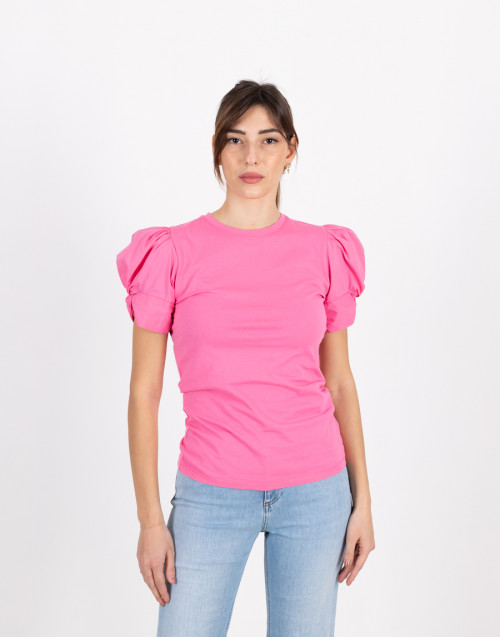 "Pink T-shirt ""Adele"" with puffed sleeve"