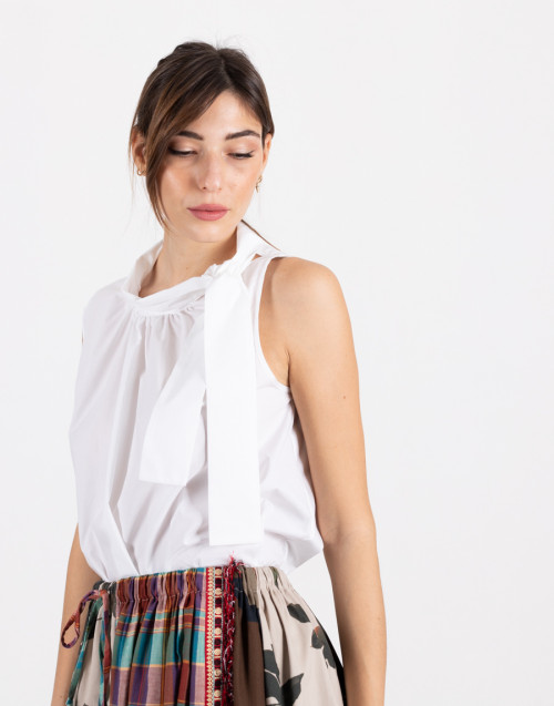 """Sleeveless top """"Laurence"""" with bow"""