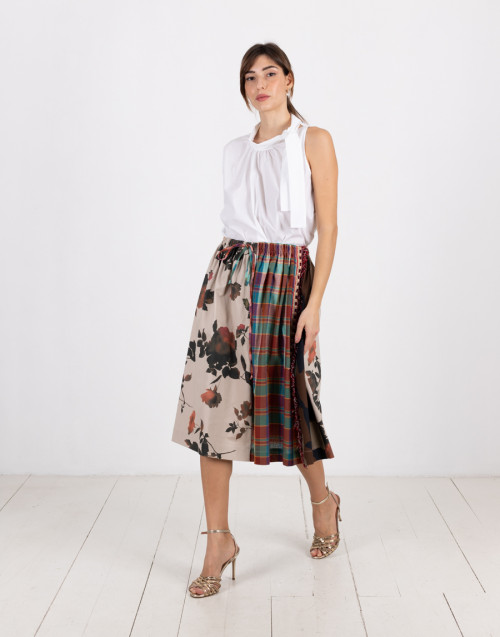 "Patchwork midi skirt ""Beatrice"""