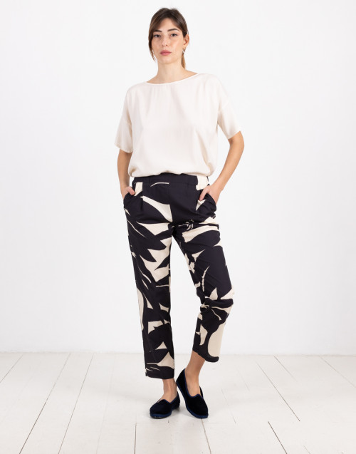 Blue and white trousers