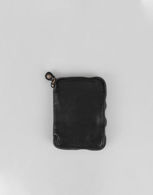 Portafoglio nero con zip