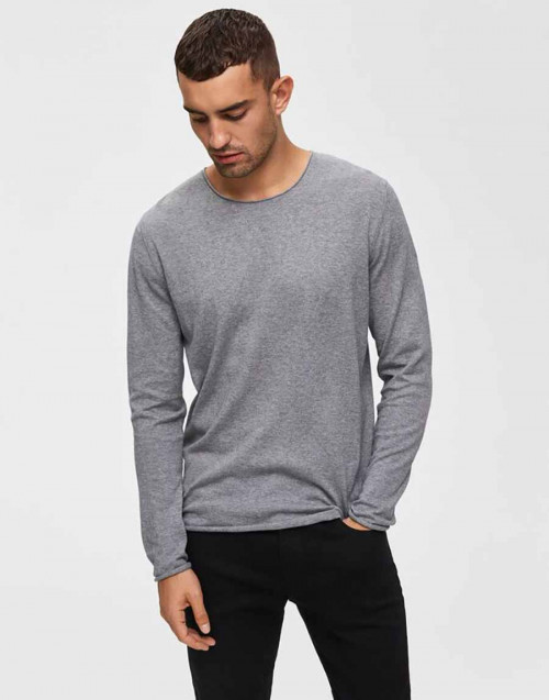 Melange grey crewneck jumper