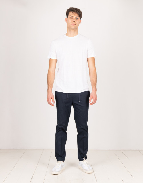 Blue cotton chino trousers