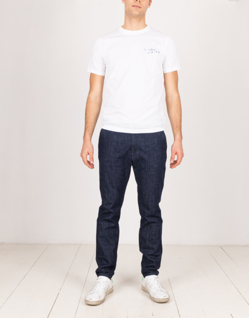 Blue cotton chino jeans