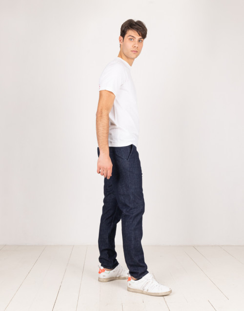 Jeans chinos blu in cotone