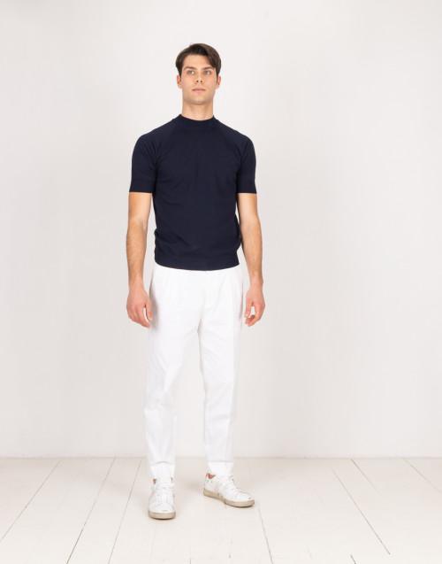 Pantaloni bianchi con pinces